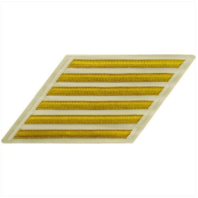 Vanguard NAVY CPO HASH MARKS: GOLD LACE ON WHITE - SET OF 6