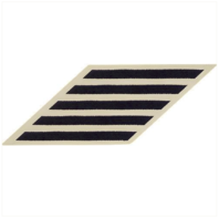 Vanguard NAVY ENLISTED HASHMARKS: BLUE EMBROIDERED ON WHITE CNT - SET OF 5