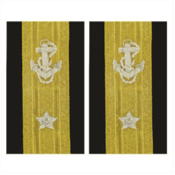 Vanguard NAVY SOFT SHOULDER MARK: LINE REAR ADMIRAL LOWER 1 STAR