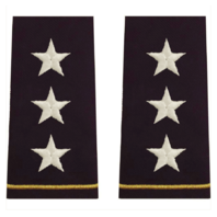 Vanguard ARMY EPAULET: LIEUTENANT GENERAL - LARGE