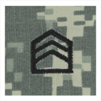 Vanguard ARMY ROTC ACU RANK W/HOOK CLOSURE: STAFF SERGEANT (SSGT)