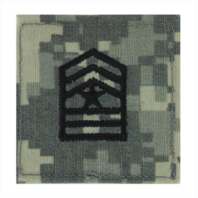Vanguard ARMY ROTC ACU RANK W/HOOK CLOSURE : SERGEANT MAJOR (SGM)