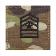 Vanguard ARMY ROTC OCP RANK W/HOOK CLOSURE : SERGEANT MAJOR (SGT MAJ)