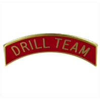 Vanguard ARMY ROTC ARC TAB: DRILL TEAMED - GOLD PLATED