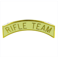 Vanguard ARMY ROTC ARC TAB: RIFLE TEAM - GOLD PLATED