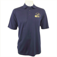 Vanguard NAVY LEAGUE MEN'S NAVY PERFORMANCE POLO SHIRT WITH GOLD LOGO - MEDIUM