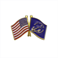 Vanguard U.S. AND NAVY LEAGUE FLAG LAPEL PIN
