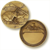 Vanguard HUEY HELICOPTER ENGRAVABLE COIN