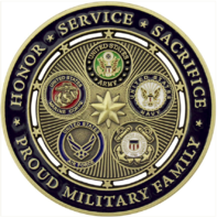 Vanguard PROUD MILITARY FAMILY COIN