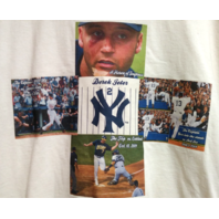 Gildan New York Yankees Off White Ivory Derek Jeter T-Shirt Size L MLB Baseball
