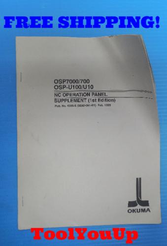osp7000 700 osp u100 u10 nc operation panel supplement manual 1st rh ebay com okuma osp 7000 manual User Manual