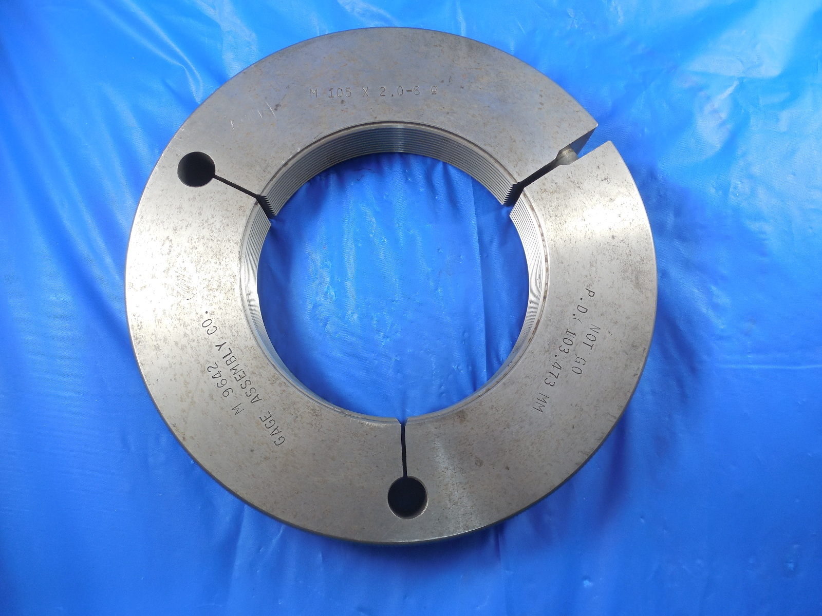 = 43.994 mm INSPECTION M45 X 1.5 6g METRIC THREAD RING GAGE 45.0 GO ONLY P.D