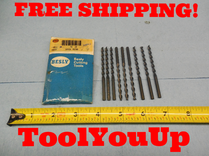 NEW 13//32 DIA MORSE TAPER #1 HSS DRILL BIT USA MADE MACHINE SHOP TOOL TOOLING