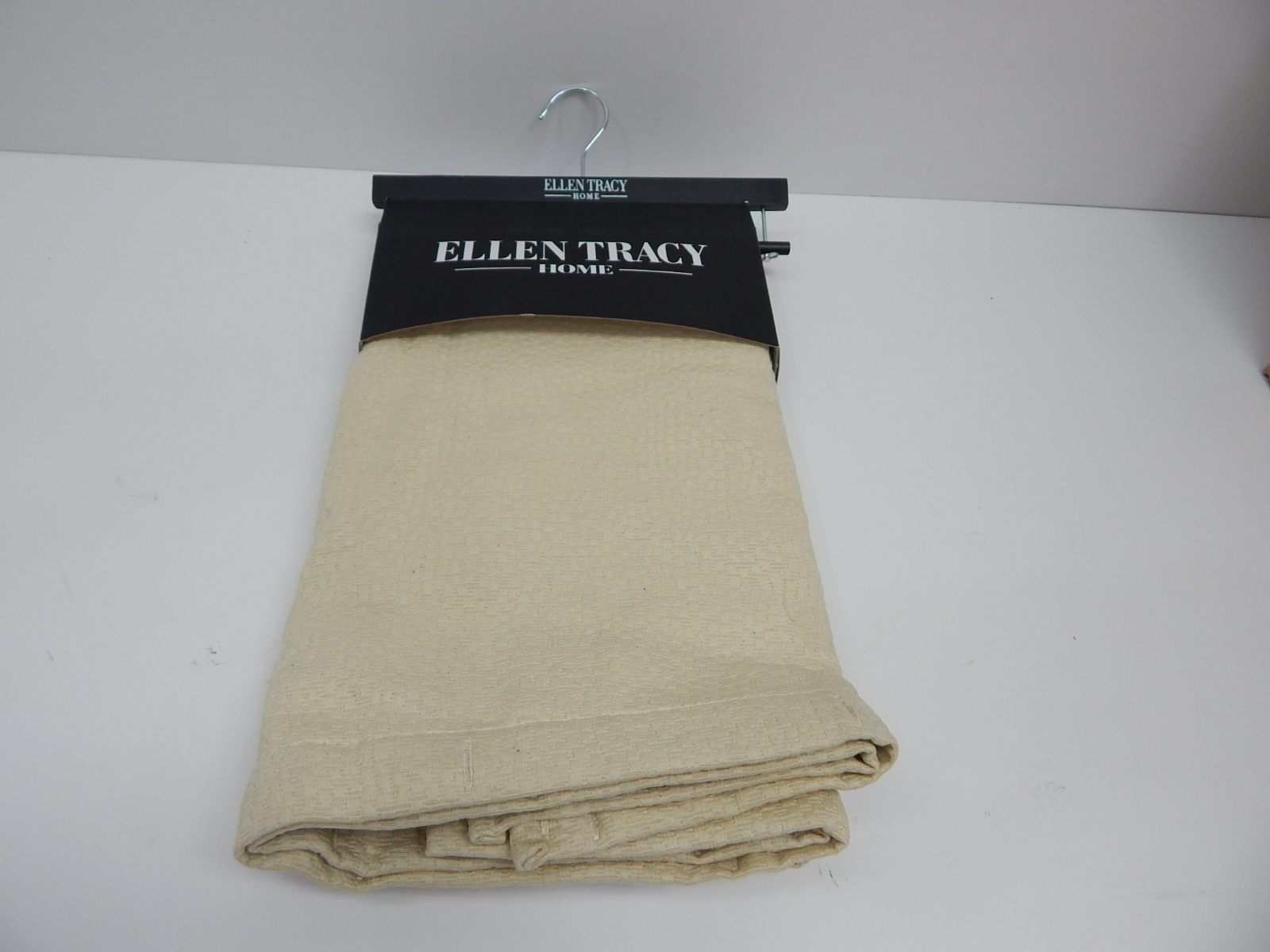 Dainty Home Ellen Tracy Cotton Blend Fieldstone Shower Curtain 72x72 Ivory