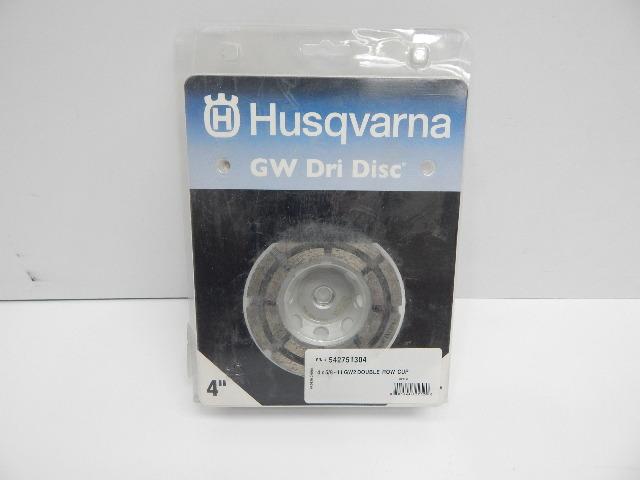 Husqvarna 542751304 GW2 Double Row Rim Cup Wheel for Contrete, Masonry & Stone
