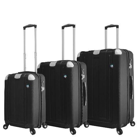 Mia Toro Italy M1303-GRT Acerra Hardside 3pc Spinner Luggage Suitcase, Graphite