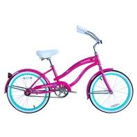 """Micargi FAMOUS-F-HPK Female 20"""" Beach Cruiser Steel Frame Bicycle Bike Hot Pink"""