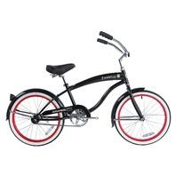 """Micargi FAMOUS-M-BK Male 20"""" Beach Cruiser Steel Frame Bicycle Bike, Black"""