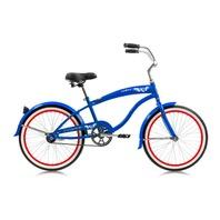 "Micargi FAMOUS-M-BL Men's 20"" Beach Cruiser Steel Frame Bicycle Bike, Blue"