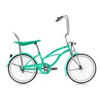 """Micargi HERO-F-MGRN Ladies 20"""" Beach Cruiser Banana Seat Bicycle Bike Mint Green"""