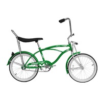 "Micargi HERO-M-GRN Men's 20"" Beach Cruiser Banana Seat Bicycle Bike, Green"