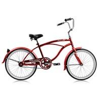 "Micargi JETTA-M-RED Men's 20"" Beach Cruiser Bicycle Bike, Red"