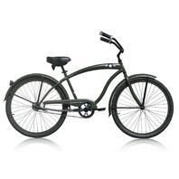 """Micargi THE GENERAL 26"""" Beach Cruiser Bicycle Bike, Army Green"""