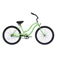 "Micargi TOUCH-F-PGRN Women's 26"" Beach Cruiser Bicycle Bike, Pearl Green"