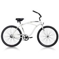 "Micargi TOUCH-M-WHI Men's 26"" Beach Cruiser Bicycle Bike, White"