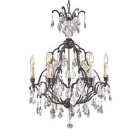 World Imports WI2616-89 Timeless Elegance 6-Light Crystals Chandelier, Bronze