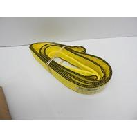 "Mazzella EE2-903 Edgeguard Polyester Web Sling Eye-and-Eye, 8'x3""x11"" 9300lb Cap"