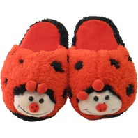 Kreative Kids 2216 Lady Bug Plush House Shoe Slippers Fits to Kids 12 (3-6 yrs)