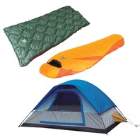 High Peak USA HP 619 Alpinizmo One 5 Tent & Lite Weight Sleeping Bag Combo Set