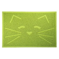 Furhaven Pet 922024 Tiger Tough Tidy Paws Litter & Food Mat, Fresh Catnip Green