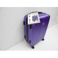 "Jetstream C6037 20"" Lightweight Hardside Carry On Spinner Suitcase Purple SCUFFS"