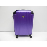 "Jetstream C6037 20"" Lightweight Hardside Carry On Spinner Suitcase Purple SCUFFS"