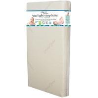 Moonlight Slumber SLSMPCRO Simplicity Organic w/ Ribbon Crib Mattress Ecru/White