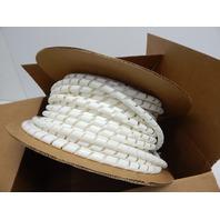 """Panduit T75R-CY Spiral Wrap, Fire Resistant Polyethylene, 0.75"""" x 100', Natural"""