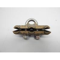 "Morris 91767 U Bolt Ground Clamp, Copper, #4 250 MCM Wire Range, 3/8"" Pipe Size"