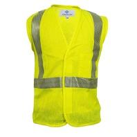 National Safety Apparel V00HA2V4X Flame Resistant Hi-Vis Mesh Vest 4XL Yellow