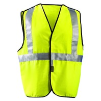 Occunomix LUX-SSCBRFR-Y4X Flame Resistant 5 Point Break-Away Vest, 4XL, Yellow
