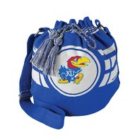 Littlearth 100117-UKS-ROYL NCAA Kansas Jayhawks Ripple Drawstring Bucket Bag