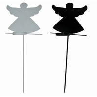 Madhu's Collection MG Decor Angels Garden Sticks Candle Votive, 32in Set of 2