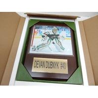 "NHL 1215DUBNYK Minnesota Wild Devan Dubnyk Player Plaque, 12""x15"""