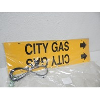 "Brady 4027-H Strap-On Pipe Marker, B-915, Black On Yellow Plastic ""City Gas"""