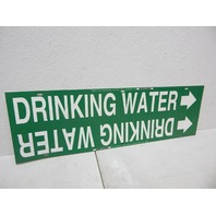 "Brady 4056-H Strap-On Pipe Marker, B-915 White On Green Plastic ""Drinking Water"""