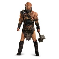 Disguise 96529 Men's Warcraft Orgrim Deluxe Muscle Dress Up Costume, X-Large