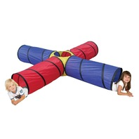 POCO DIVO 4-way Tunnel Pop-up Fun Junction Set 8 Feet Tent DIRTY CARRY BAG