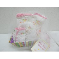 Raindrops 83500 Bubbles N' Stripes Hooded Bath Towel Set Pink DISTRESSED PKG