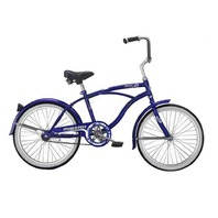 "Micargi JETTA-M-BL Male 20"" Beach Cruiser Bicycle Bike, Blue"